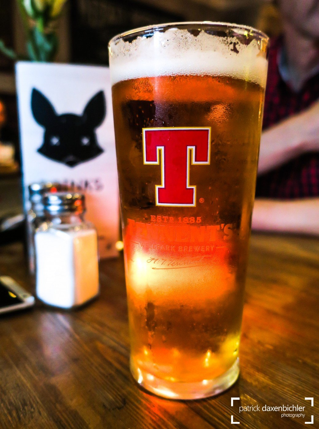 Ein wohlverdientes Tennents Beer, Black Fox, Edinburgh